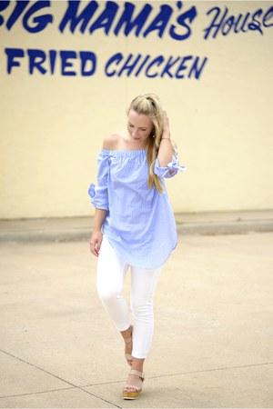 Hoyugo blouse - Zara jeans - Steve Madden sandals