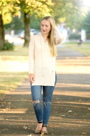 Girlmerry sweater - Zara jeans - Primark flats
