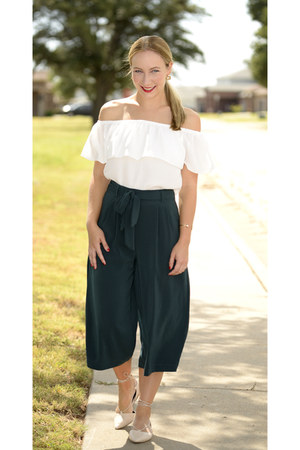 DressLink blouse - Zara pants - Aldo flats