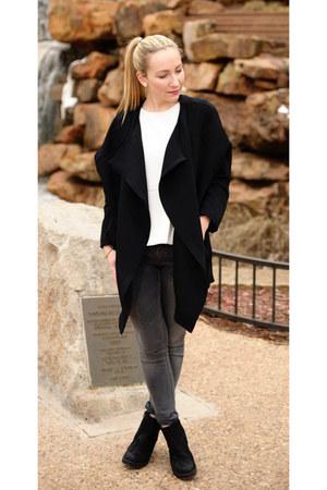 H&M Trend jacket - vagabond boots - Zara jeans - H&M Trend shirt
