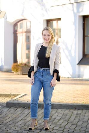 BDG jeans - Selected Femme blazer - zaful shirt - Zara pumps
