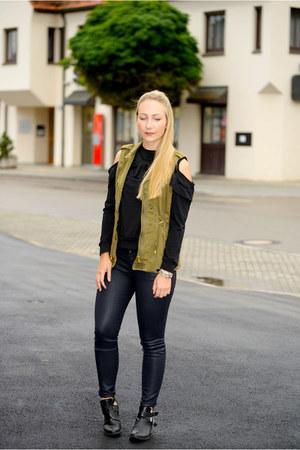 Zara vest - romwe shirt