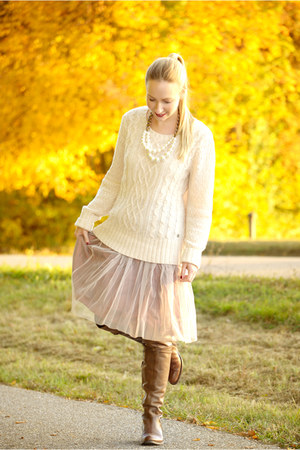 sammydress skirt - Eddie Bauer sweater - Zara necklace