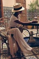 H&M hat - Pimkie bag - Lefties t-shirt - BLANCO flats - Zara skirt