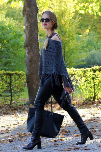 crimson H&M boots - black Ray Ban sunglasses