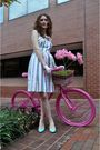 White-anthropologie-dress-white-vintage-gloves-blue-vintage-shoes-pink-ruc