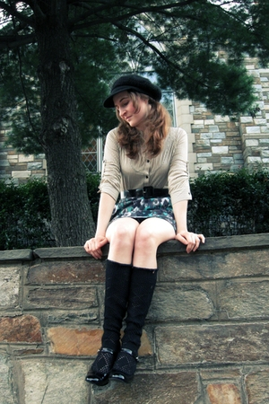 Urban Outfitters top - Express skirt - belt - free people leggings - Style &amp; Co 