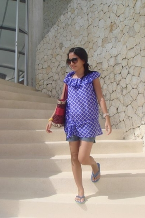 Body and Soul blouse - shorts - Forever 21 sunglasses - accessories