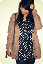 polkadot Primark romper - cable knit new look cardigan