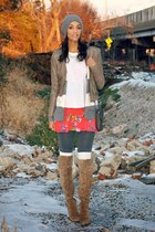 white white sequined abercrombie and fitch shirt - camel suede sam edelman boots