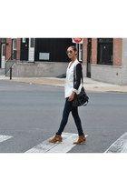 Jeffrey Campbell boots - skinny jeans G-Star jeans - combo Helmut Lang blazer