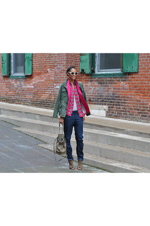 denim G Star jeans - ecote jacket - Alexander Wang bag