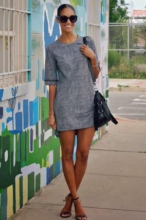 black Lululemon dress - black Steve Madden shoes - black Pour La Victoire bag