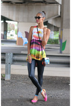 zoeybean designs ring - Motel dress - David Lerner leggings