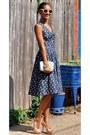 Navy-eshakti-dress-aquamarine-ted-baker-bag
