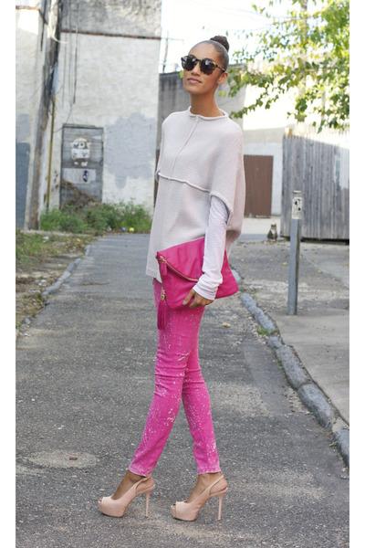 Cheap Monday sweater - Pour La Victoire shoes - Earnest Sewn jeans