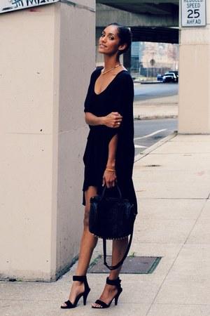 black Jeffrey Campbell shoes - black Toggery dress - black Alexander Wang bag