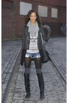Muubaa jacket - Dolce Vita boots - bracchiale style scarf - Pour La Victoire bag