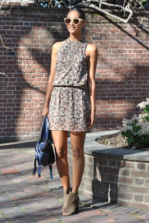 light brown zadig and voltaire boots - light brown H&M dress