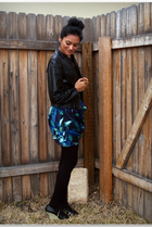 blue Target GO International skirt - black American Apparel tights - black Victo
