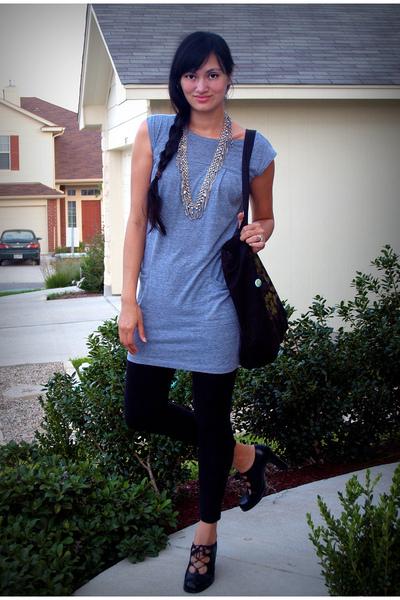 American Apparel dress - papaya leggings - Nine West shoes - Thailand belt - Sti