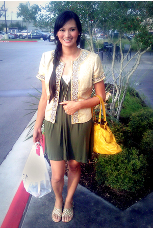 Forever 21 dress - WDNY jacket - Connie shoes - Forever 21 purse - Thanks Grandm