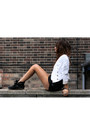 Black-kurt-geiger-boots-off-white-topshop-jacket-black-american-apparel-shor