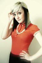 red Topshop top