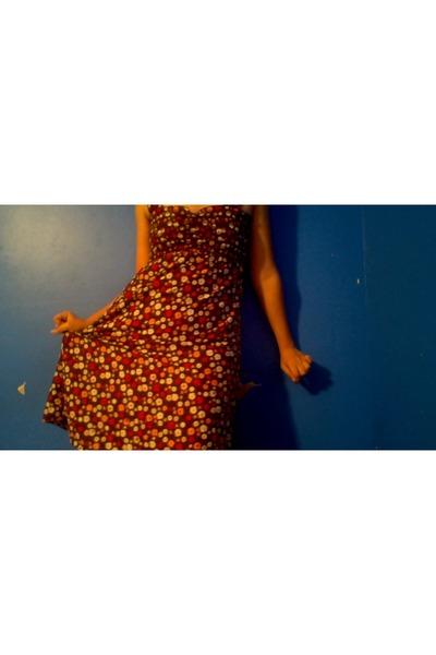 dark brown cotton dress