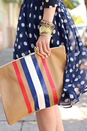 nude bag - navy bag - white bag - red bag