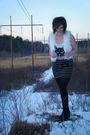 White-forever-21-vest-black-forever-21-skirt-pink-forever-21-top