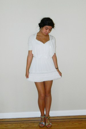 white Gilly Hicks dress - white Old Navy cardigan