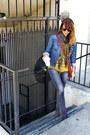 Dark-brown-luxury-rebel-boots-charcoal-gray-mavi-jeans