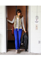 blue GLG jeans - heather gray Dolce Vita boots - heather gray free people top
