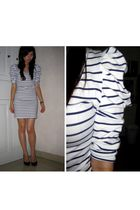 white Zara dress - black Zara shoes - white