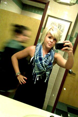 black American Eagle dress - blue Charlotte Russe scarf - white H&M swimwear