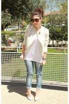 white Lefties blazer - white Mango pumps