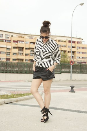Zara shirt - suiteblanco shorts - Zara sandals