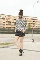 Zara shirt - suiteblanco shorts - Zara sandals