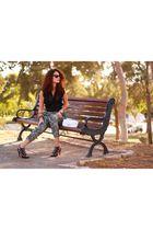 black H&M pants - black Miss Selfridge blouse