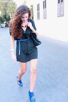 black desinger dress