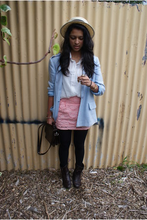 Mums blazer - cotton on shirt - supre skirt