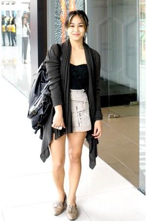 black lace-up booties Parisian shoes - silver paint splash BESTFINDS THRIFTSHOP