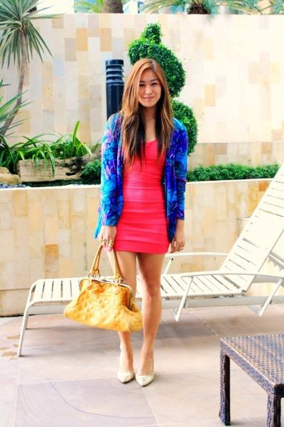 hot pink BESTFINDS THRIFTSHOP dress - gold BESTFINDS THRIFTSHOP shoes