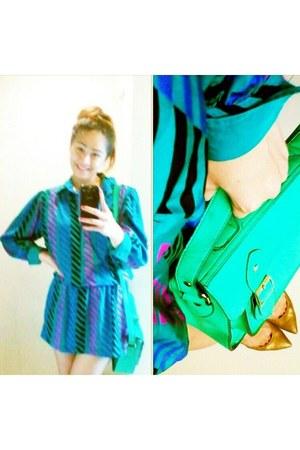 thrifted dress - AsianVogue bag - bestfindsthriftshop pumps