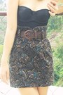 Black-corset-diy-top-amethyst-printed-bestfinds-thriftshop-skirt-black-bestf