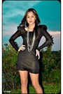 Black-made-to-order-dress-silver-random-brand-accessories