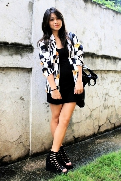 BEST FINDS THRIFTSHOP blazer - black random brand dress - black BEST FINDS THRIF