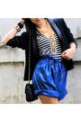 Black-thrifted-blazer-random-brand-blue-thrifted-shorts-black-best-finds-t