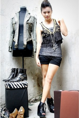 black studded BESTFINDS THRIFTSHOP vest